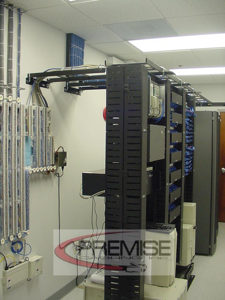 Premise Cabling Inc Wiring Data Rack Side View